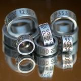 stalen ring (RVS316) met gelaserd opschrift