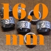 16,0 mm aluminium ring met gerold opschrift