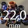 22,0 mm gekleurd aluminium