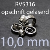 stalen ring 10,0 mm RVS316