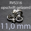 stalen ring 11,0 mm RVS316