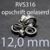 stalen ring 12,0 mm RVS316