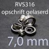 stalen ring 7,0 mm RVS316