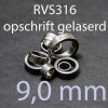 stalen ring 9,0 mm RVS316